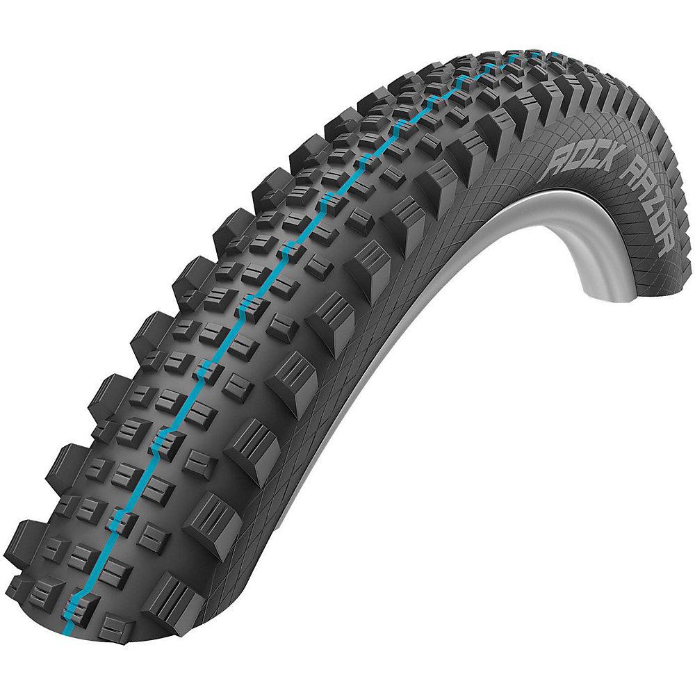 Copertone da MTB Schwalbe Rock Razor Addix - SnakeSkin - nero - blu - Addix Speedgrip, nero - blu