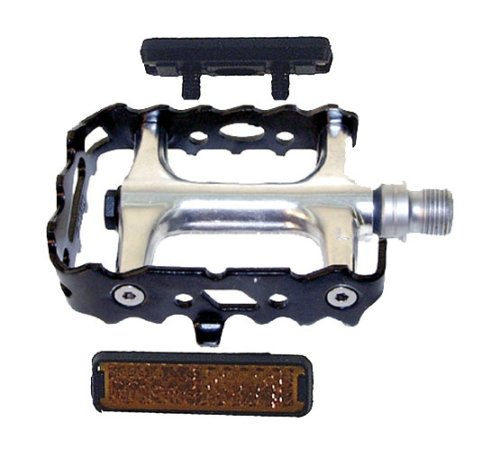 VP Components Pedali MTB in Alluminio con Cuscinetti industriali a Sfera a riflettore, ASSE CrMo