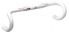 Manubrio da corsa ITM Alutech 7075 wht M-X31,8 mm,420mm,Allum 7075 laccato bianco