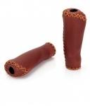 XLC Bar Grips GR-G11 marrone pelle finta 135mm